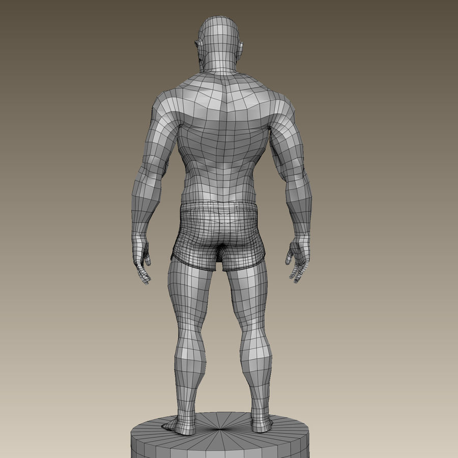 Athletic Man Zbrush Sculpt royalty-free 3d model - Preview no. 17