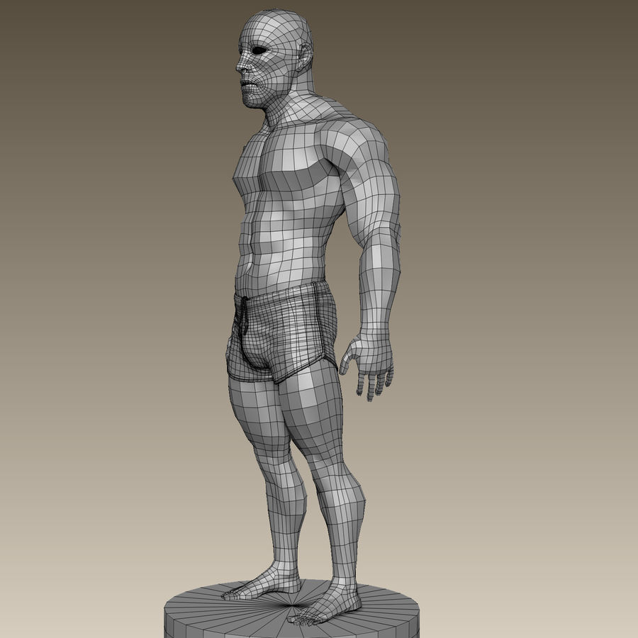 Athletic Man Zbrush Sculpt royalty-free 3d model - Preview no. 19
