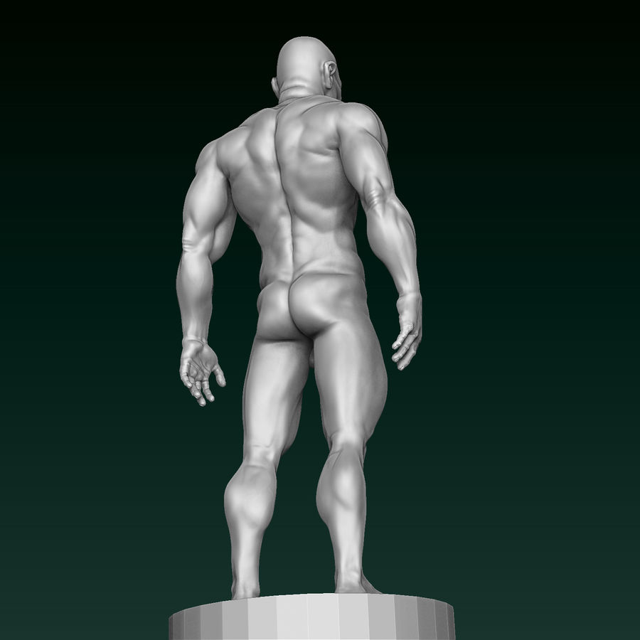 Athletic Man Zbrush Sculpt royalty-free 3d model - Preview no. 12