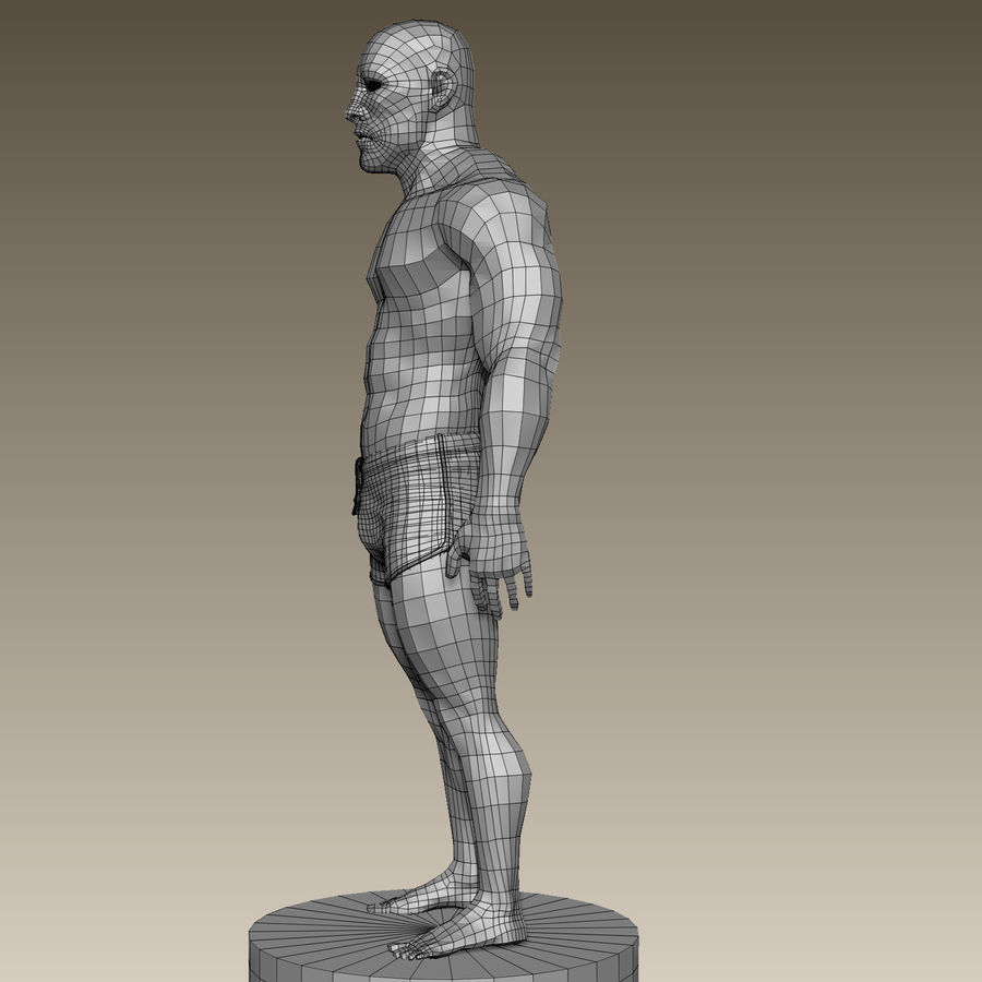 Athletic Man Zbrush Sculpt royalty-free 3d model - Preview no. 18
