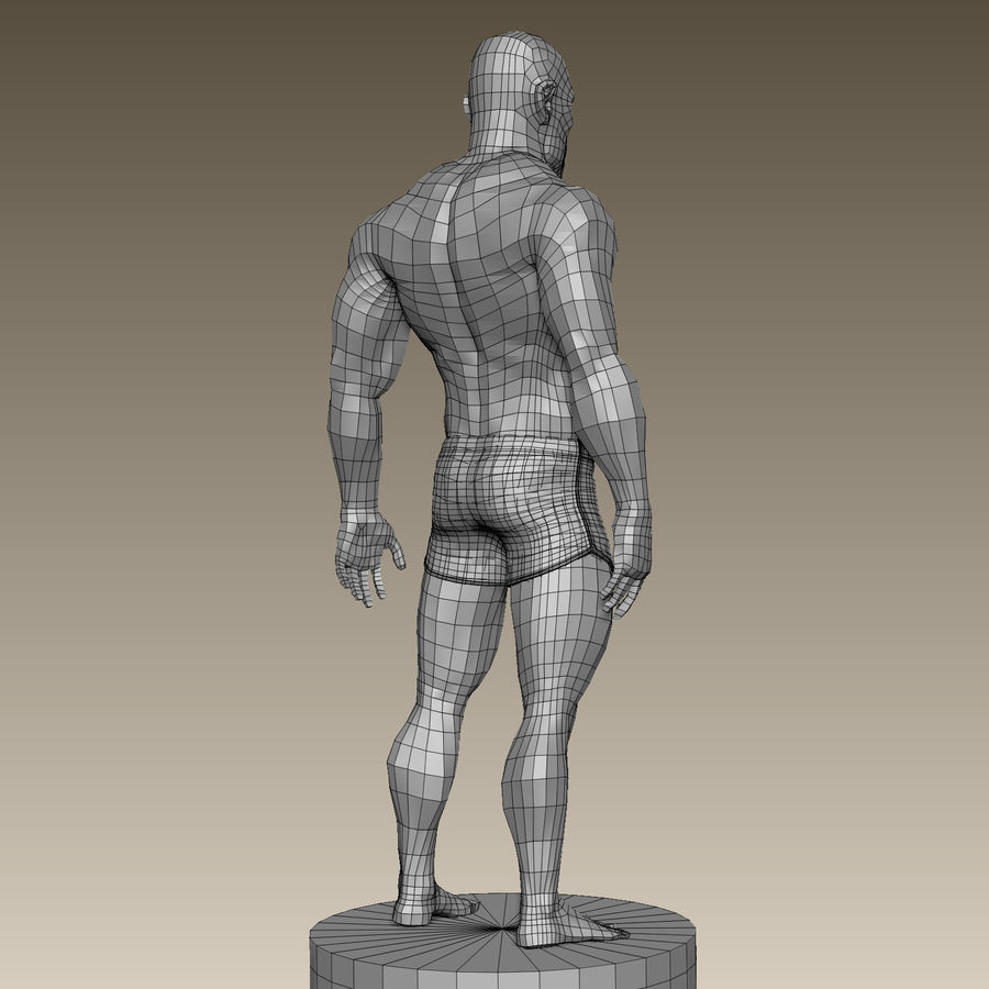 Athletic Man Zbrush Sculpt royalty-free 3d model - Preview no. 16