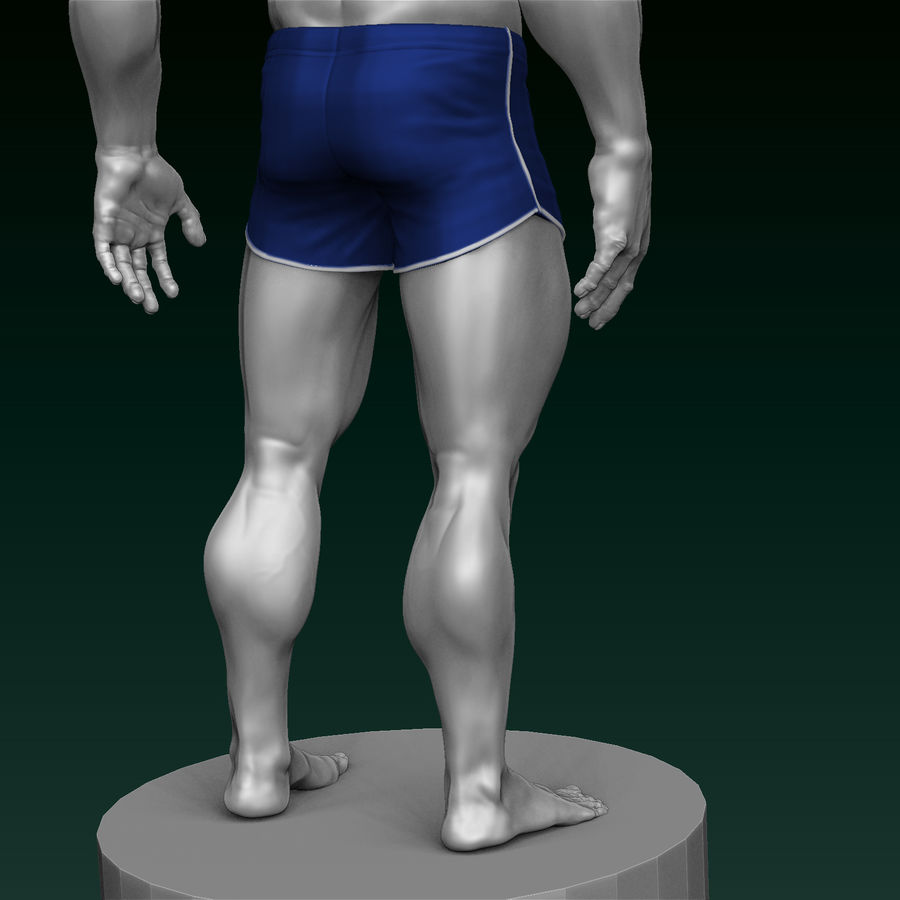 Athletic Man Zbrush Sculpt royalty-free 3d model - Preview no. 6