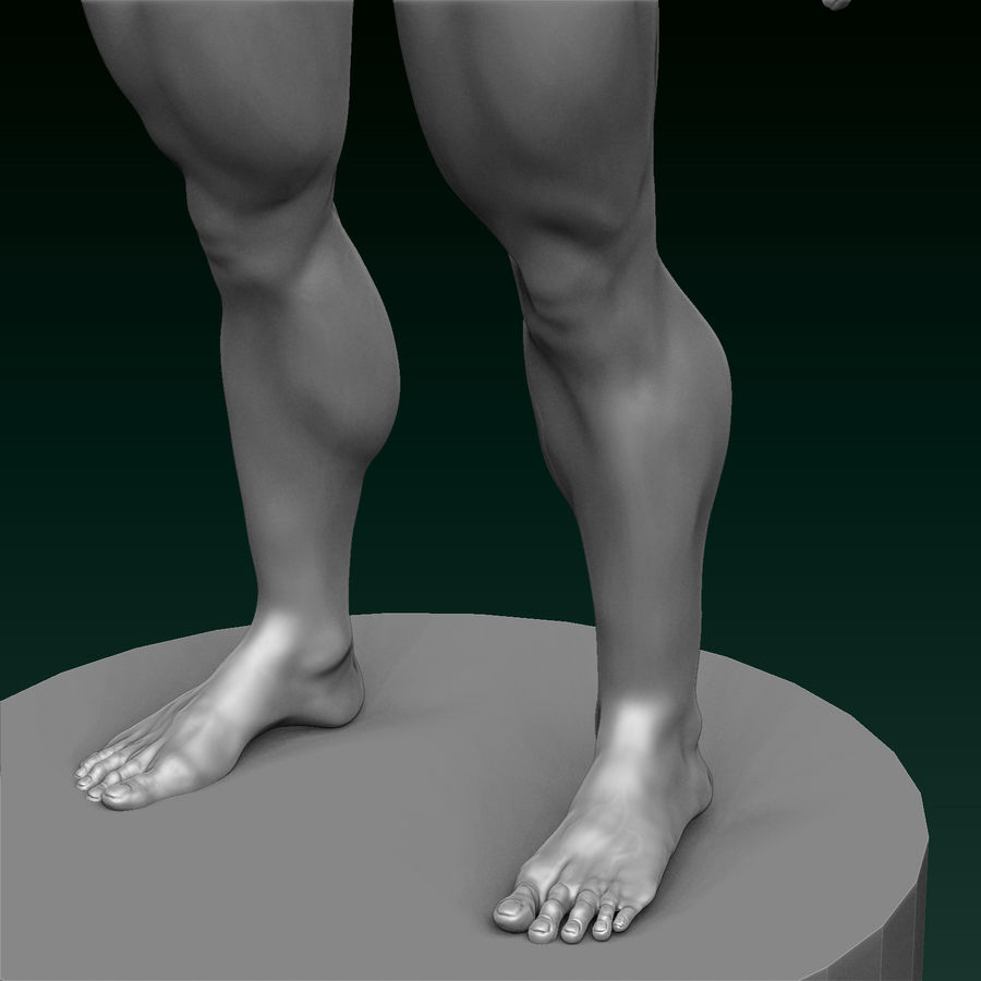 Athletic Man Zbrush Sculpt royalty-free 3d model - Preview no. 5