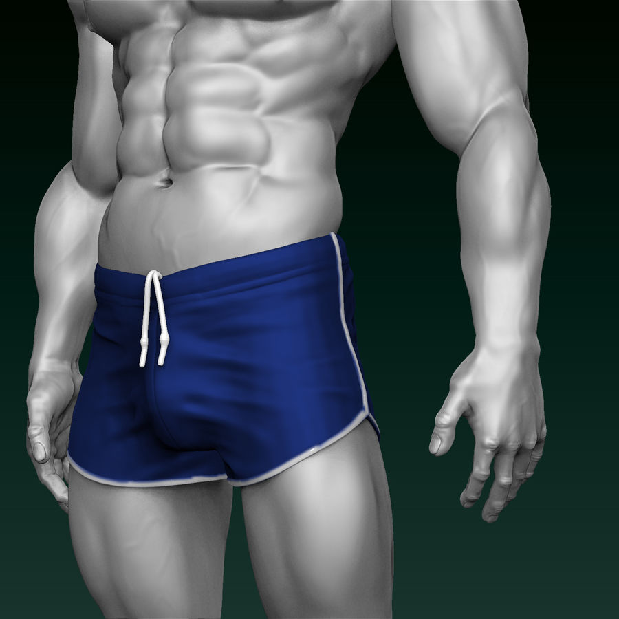 Athletic Man Zbrush Sculpt royalty-free 3d model - Preview no. 4