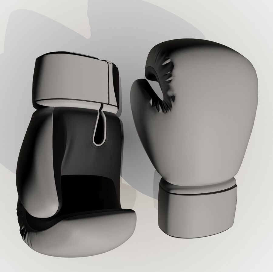 Boxing Gloves royalty-free 3d model - Preview no. 2