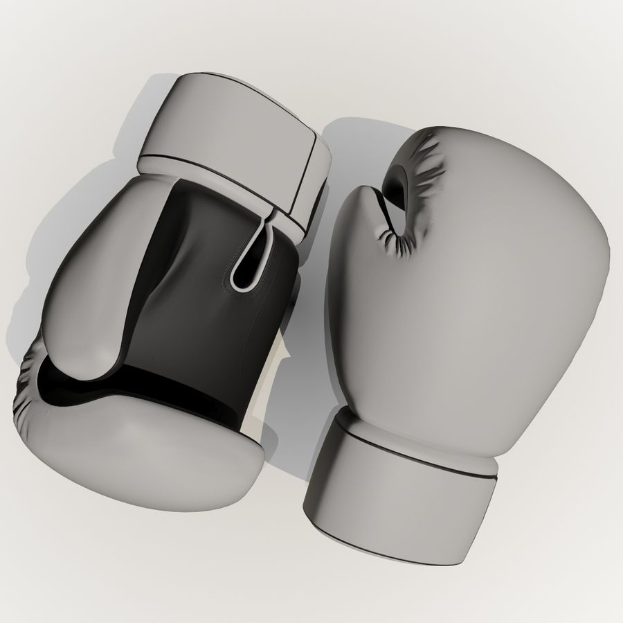 Boxing Gloves royalty-free 3d model - Preview no. 3