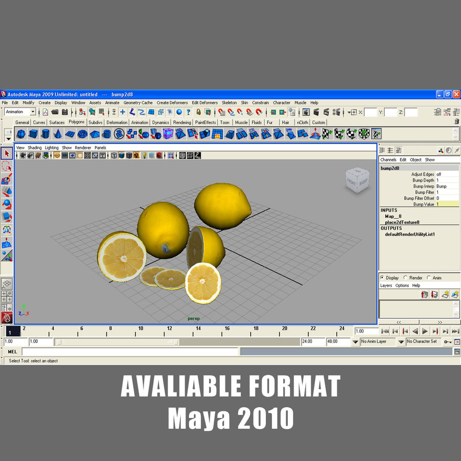 Limoni royalty-free 3d model - Preview no. 11