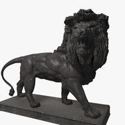 Estátua do leão de metal 3d model