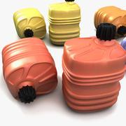 Plastic Canister Barrel Textured 3d model