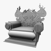 Chinese Throne Chair(1) 3d model