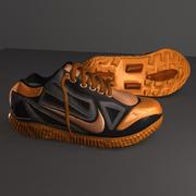 Orange Sneakers 3d model