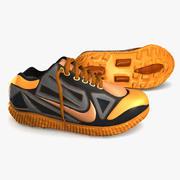 Zapatillas de deporte naranjas modelo 3d