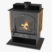 Photoreal Fireplace E 3d model