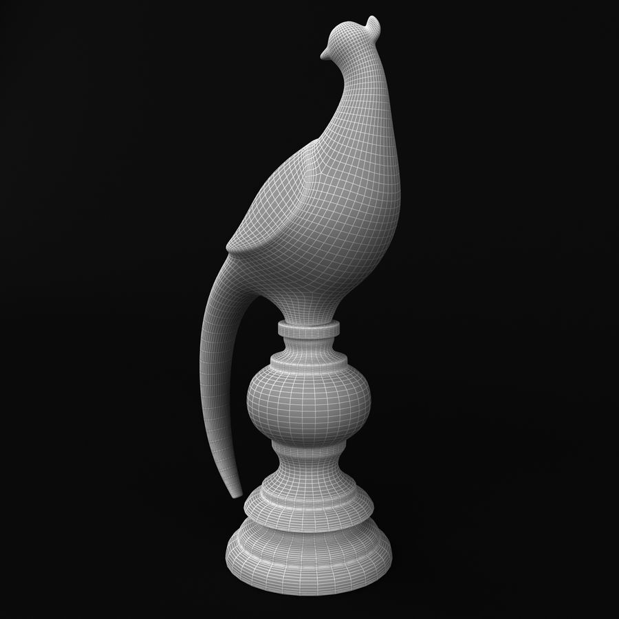 공작상 royalty-free 3d model - Preview no. 9
