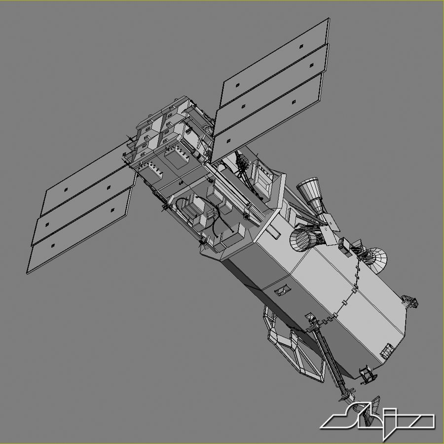 Satellit 1 royalty-free 3d model - Preview no. 10