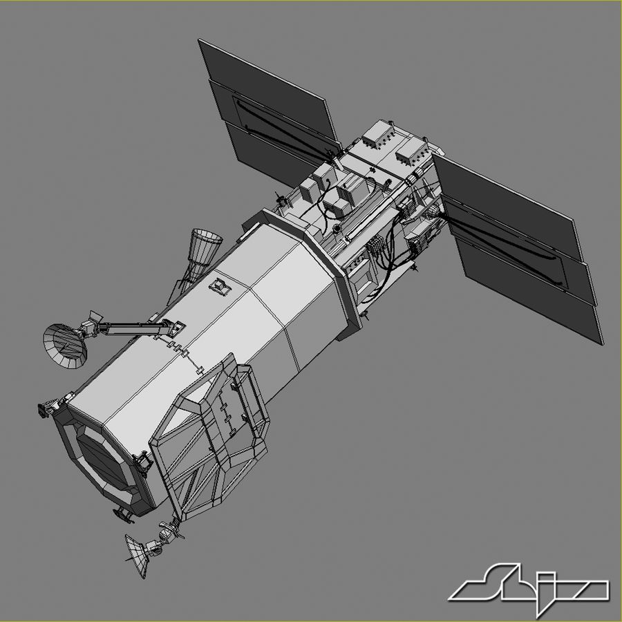 Satellit 1 royalty-free 3d model - Preview no. 11