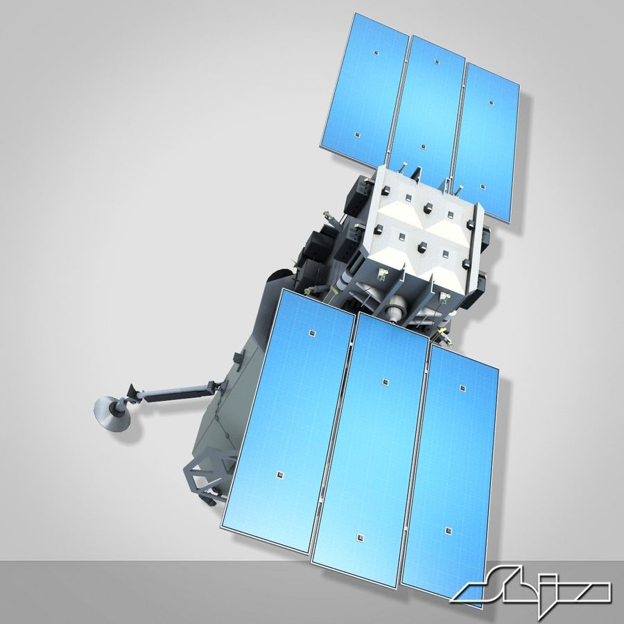 Satellite 1 royalty-free 3d model - Preview no. 4