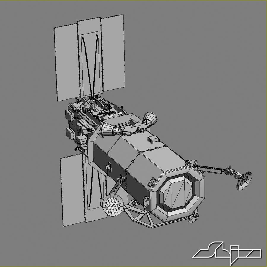 Satellit 1 royalty-free 3d model - Preview no. 9