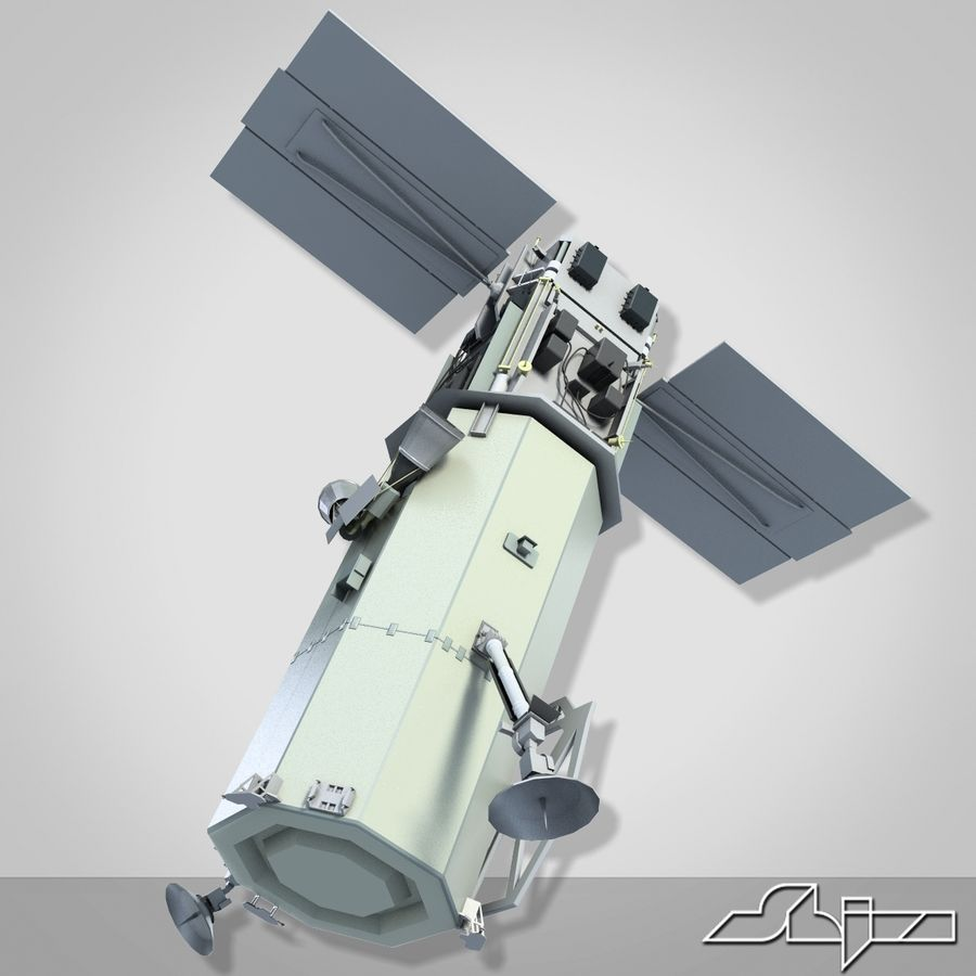 Satellit 1 royalty-free 3d model - Preview no. 6