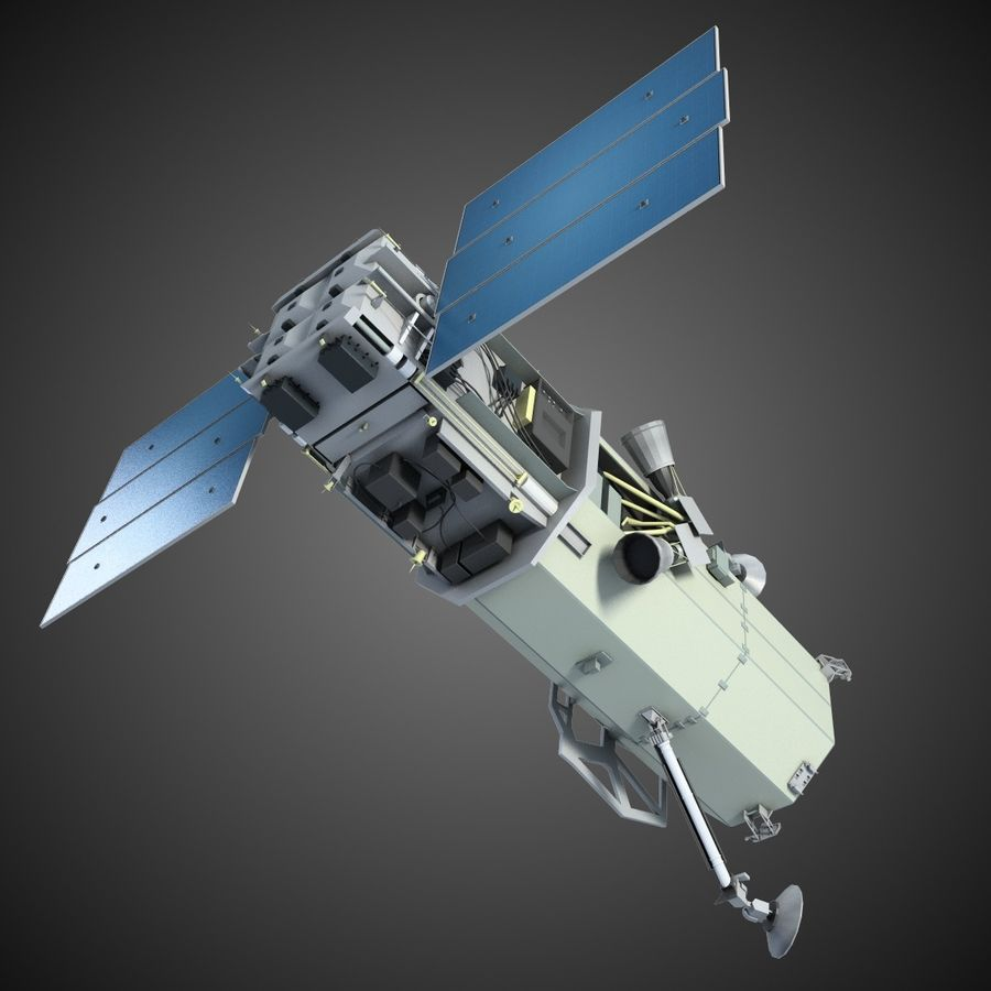 Satellite 1 royalty-free 3d model - Preview no. 2