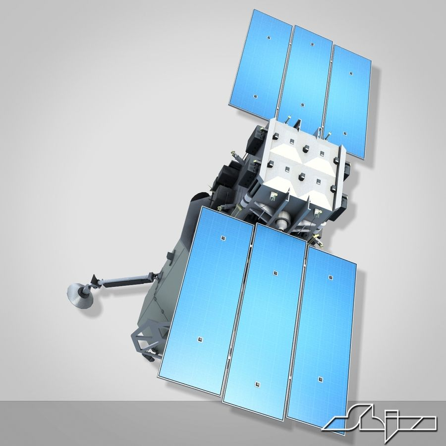 Satellit 1 royalty-free 3d model - Preview no. 4