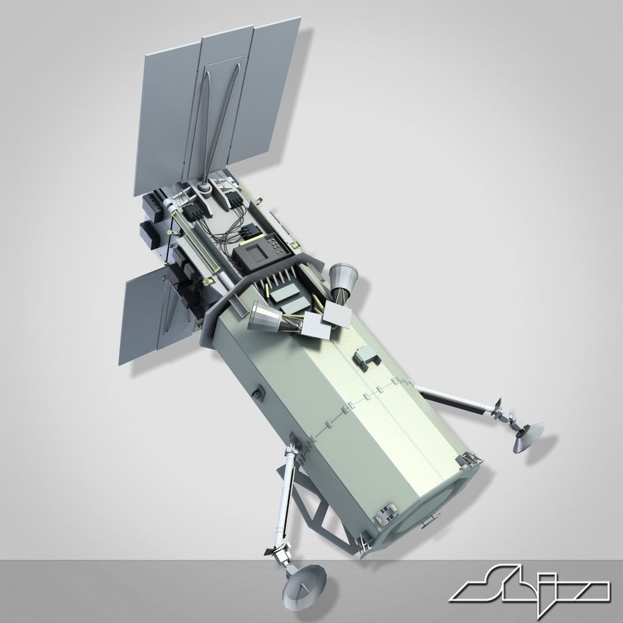 Satellit 1 royalty-free 3d model - Preview no. 7