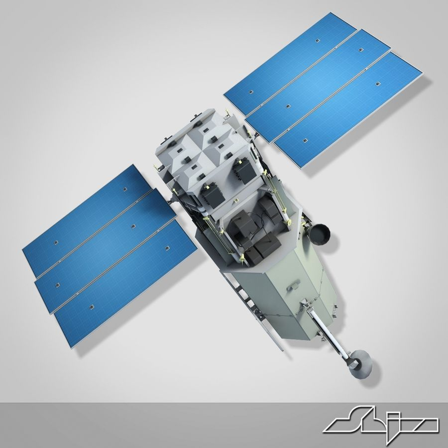 Satellit 1 royalty-free 3d model - Preview no. 3