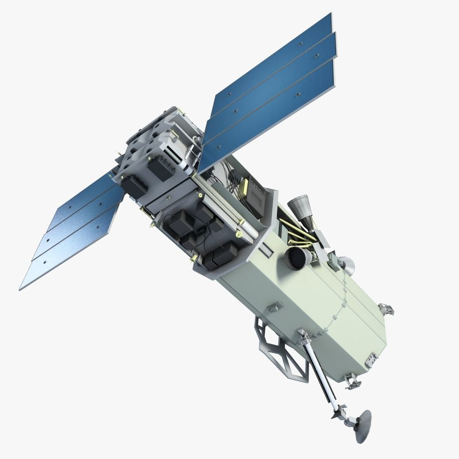 Satellite 1 royalty-free 3d model - Preview no. 1
