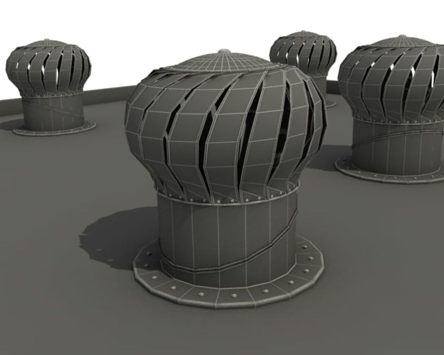 Saída de ar royalty-free 3d model - Preview no. 4