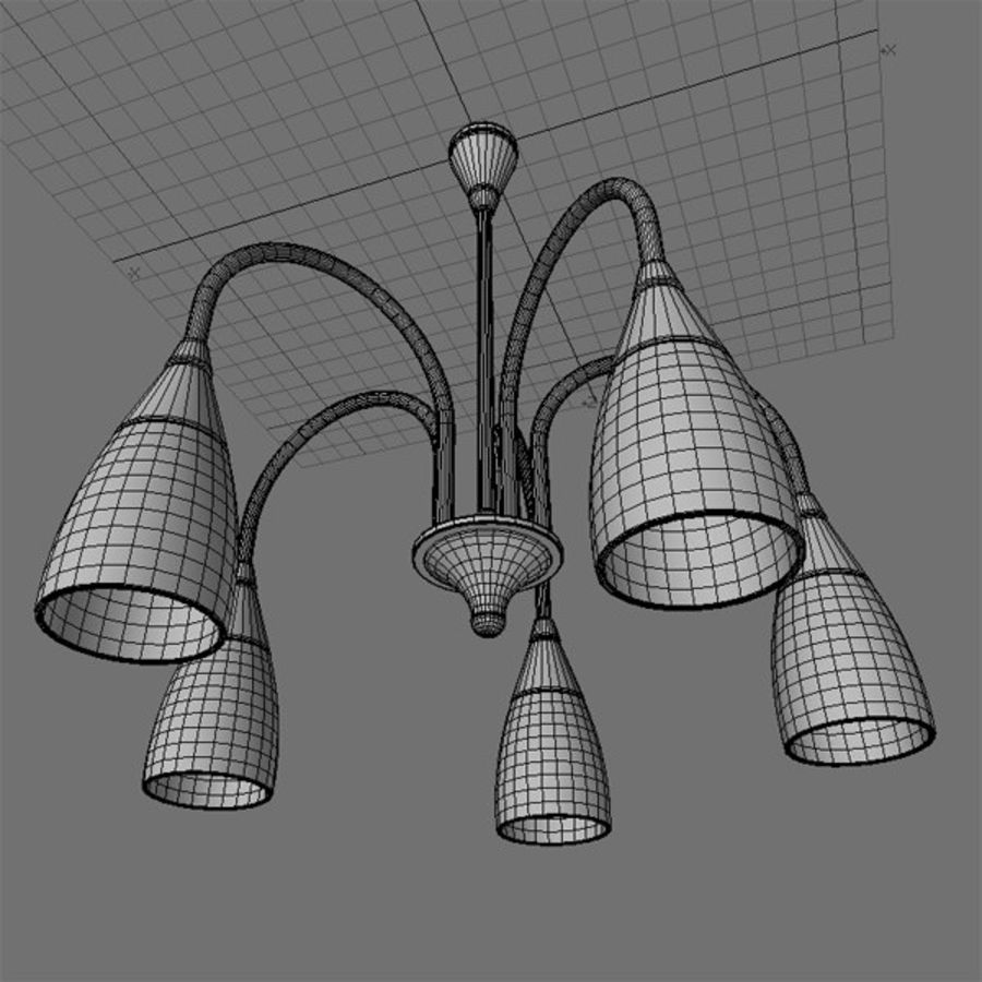 Lampa sufitowa royalty-free 3d model - Preview no. 4