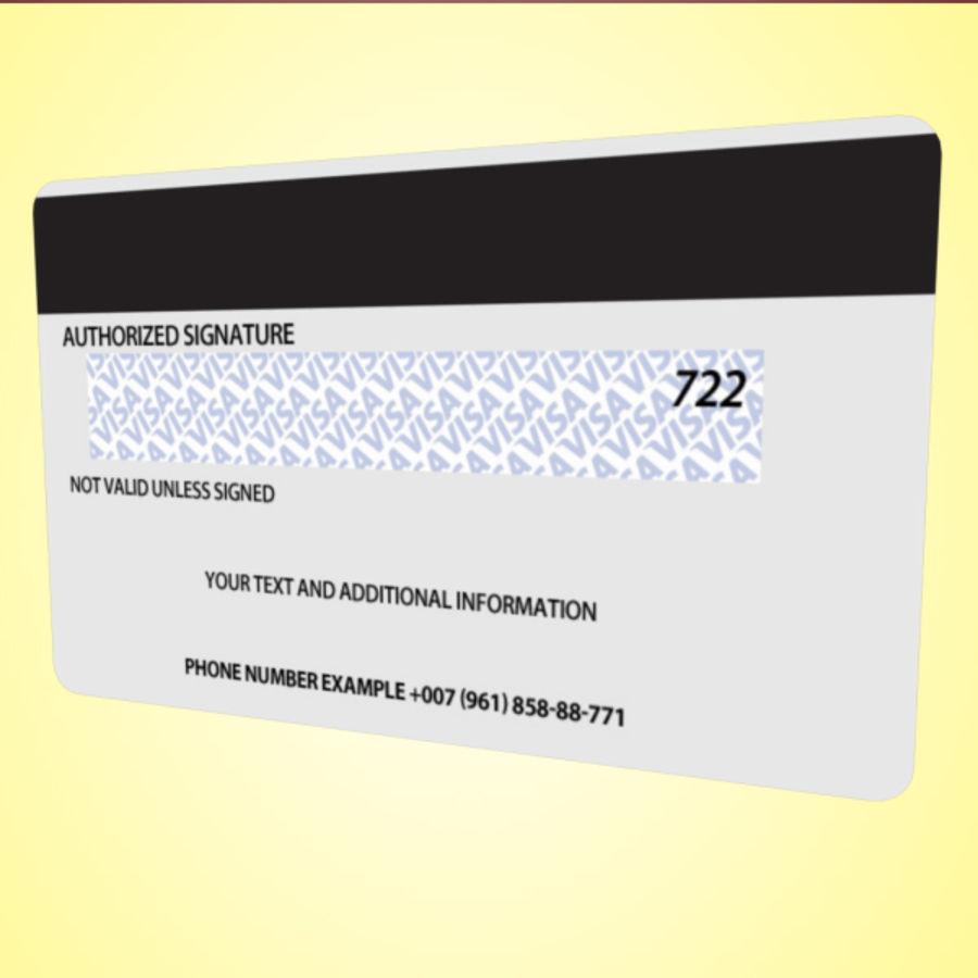 Bank Credit Card royalty-free 3d model - Preview no. 6