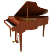 Grand Piano: Wood Finish 3d model