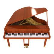 Fortepian: Wykończenie drewna 3d model