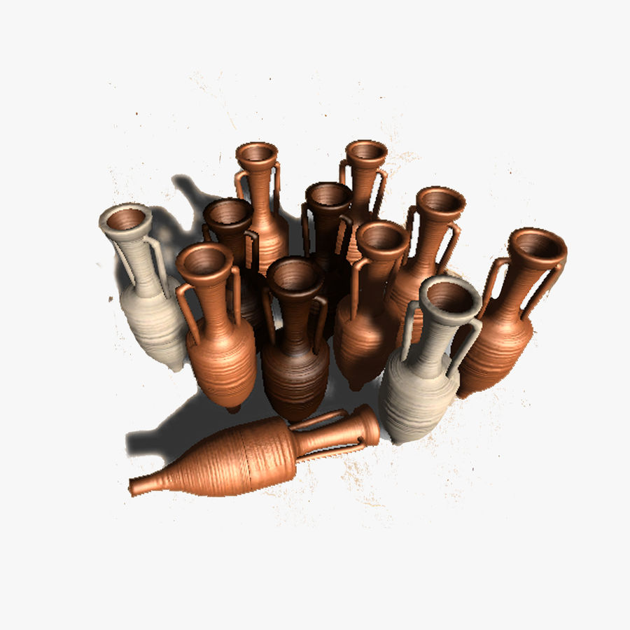 Amphoras royalty-free 3d model - Preview no. 1
