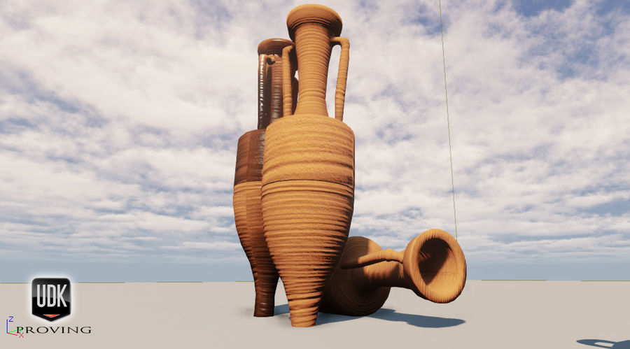 Amphoras royalty-free 3d model - Preview no. 6