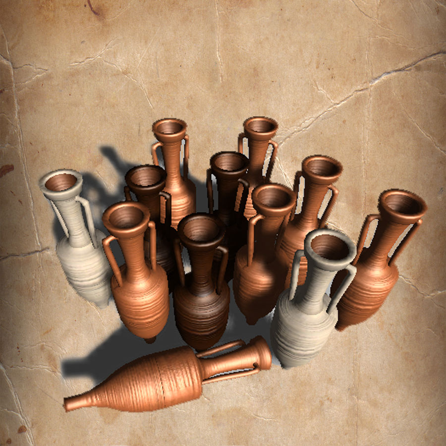 Amphoras royalty-free 3d model - Preview no. 4