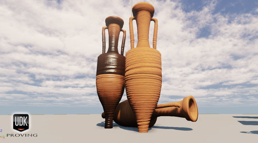 Amphoras royalty-free 3d model - Preview no. 5