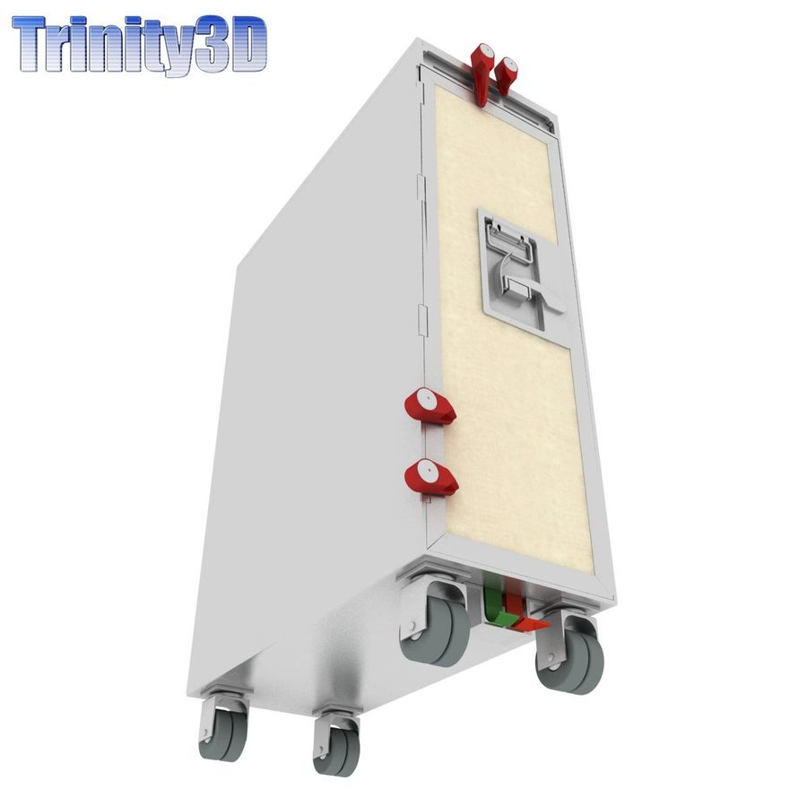 Airplane Cart royalty-free 3d model - Preview no. 6