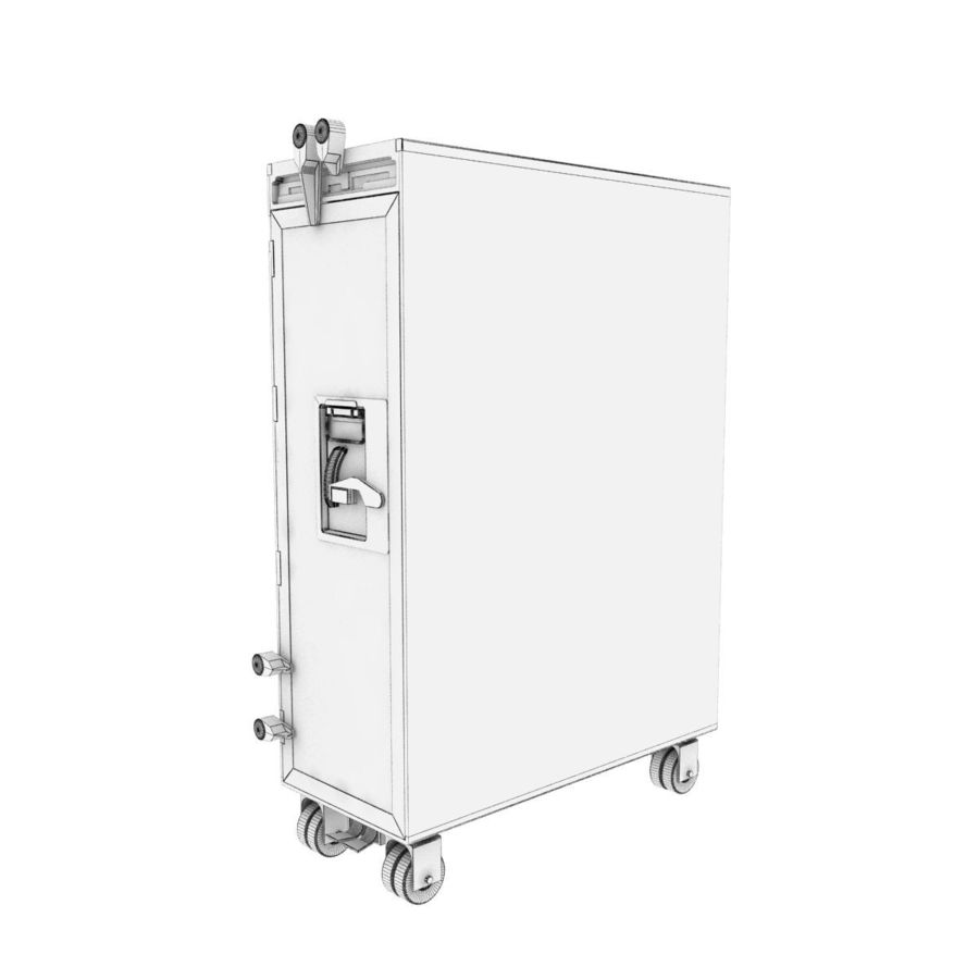 Airplane Cart royalty-free 3d model - Preview no. 7