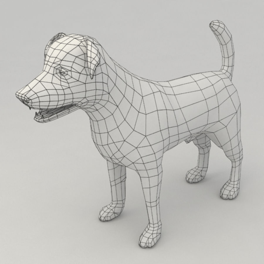 Jack Russell Terrier royalty-free 3d model - Preview no. 9
