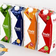 4 Juice Cartons 3d model