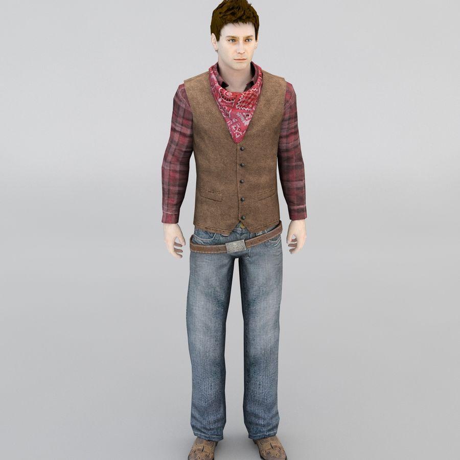 Cowboy royalty-free 3d model - Preview no. 5