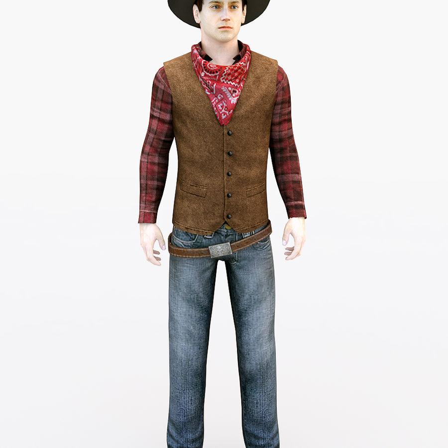 Cowboy royalty-free 3d model - Preview no. 1