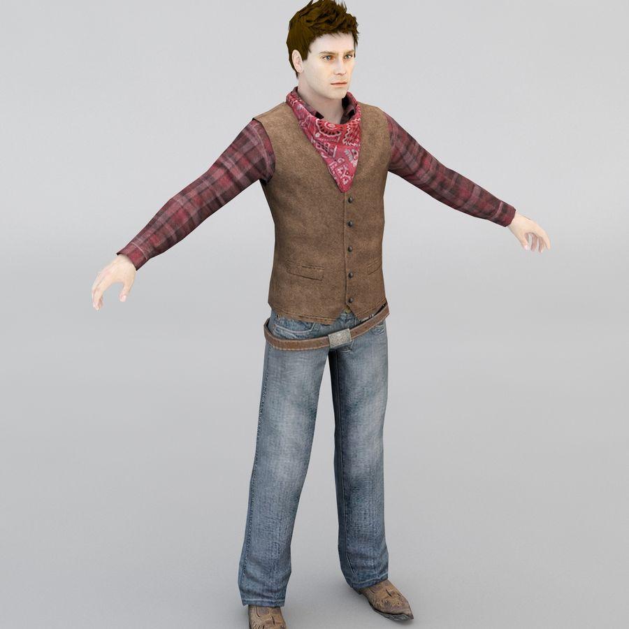 Cowboy royalty-free 3d model - Preview no. 2
