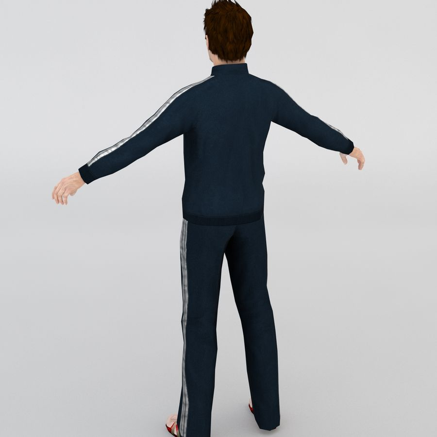 Homme en survêtement royalty-free 3d model - Preview no. 2