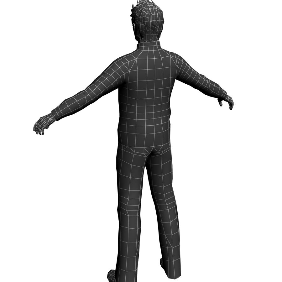 Homme en survêtement royalty-free 3d model - Preview no. 5