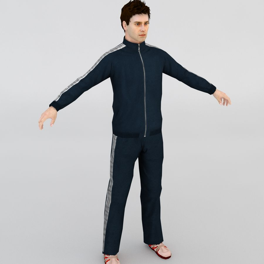 Homme en survêtement royalty-free 3d model - Preview no. 1