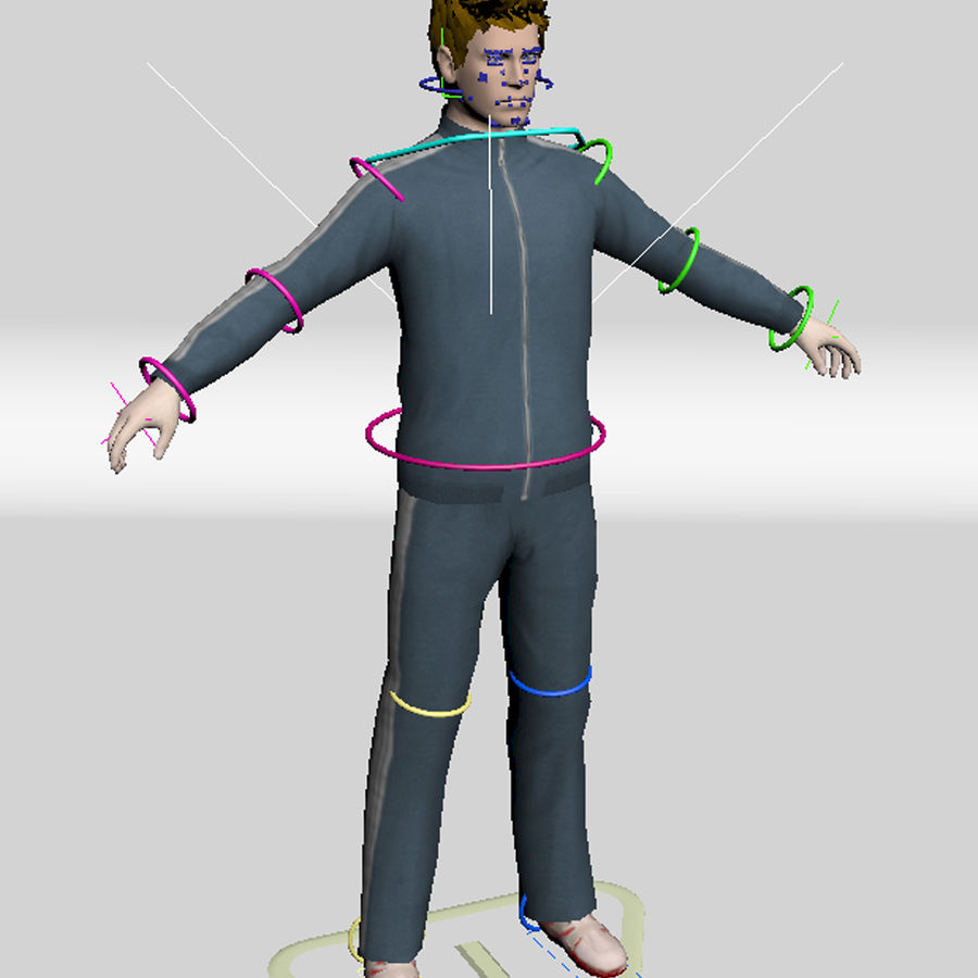 Man In A Tracksuit royalty-free 3d model - Preview no. 7
