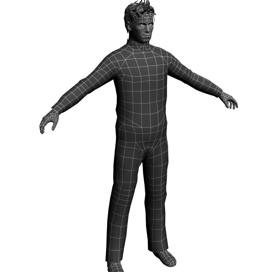 Homme en survêtement royalty-free 3d model - Preview no. 4