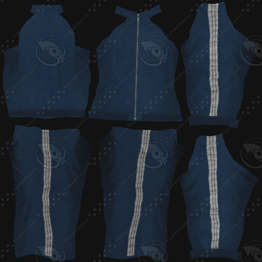 Man In A Tracksuit royalty-free 3d model - Preview no. 8